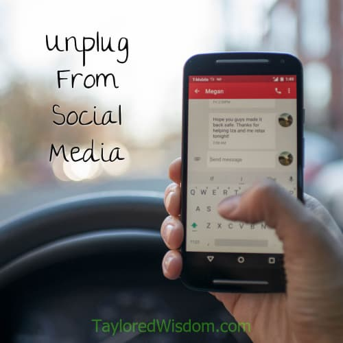 unplug from social media