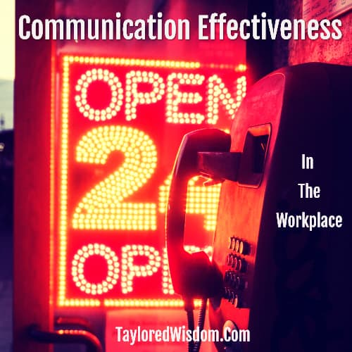 communication effectiveness in the workplace